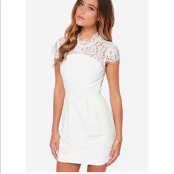 Keepsake White Lace Dress